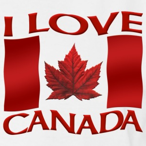 Men's Canada T-shirt I Love Canada XXXL 4XL Shirt - Men's Tall T-Shirt