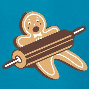 A rolling pin and a gingerbread man  Kids' Shirts - Kids' T-Shirt