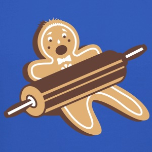 A rolling pin and a gingerbread man  Long Sleeve Shirts - Crewneck Sweatshirt
