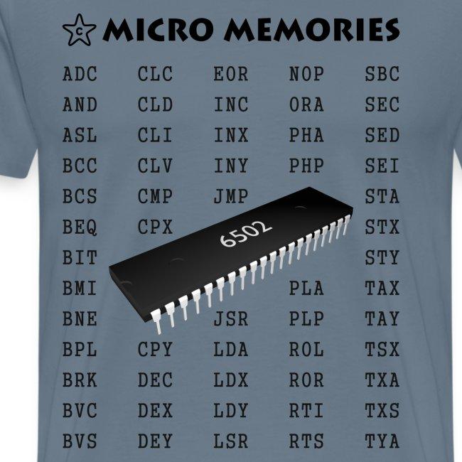 Starchip Designs Programmers T Shirt Vintage 6502 Chip