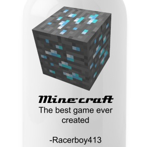 Minecraft Diamond ore Canteen  - Water Bottle