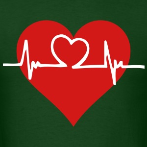 Heart with beating heart pulse - Men's T-Shirt