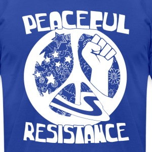 peaceful resistance white design