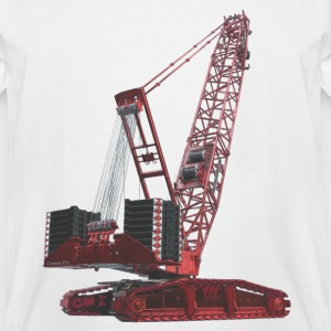 Crawler Crane 750t - Red T-Shirts - Men's Tall T-Shirt