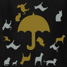 raining_cats_and_dogs3 Kids' Shirts