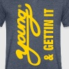YOUNG & GETTIN IT T-Shirts - Men's V-Neck T-Shirt by Canvas