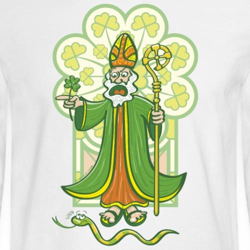 Saint Patrick chasing last Ireland's snake