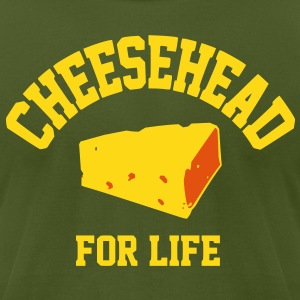 Cheesehead for life T-Shirts - Men's T-Shirt by American Apparel