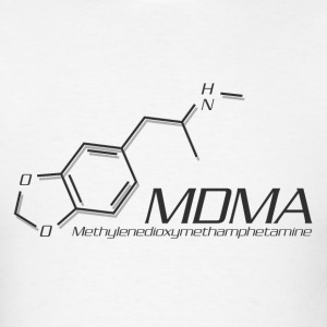MDMA Molecule Grey - Men's T-Shirt