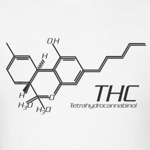 THC Molecule Grey - Men's T-Shirt