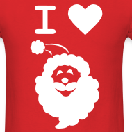 Design ~ I LOVE SANTA CLAUS - Men's T-Shirt