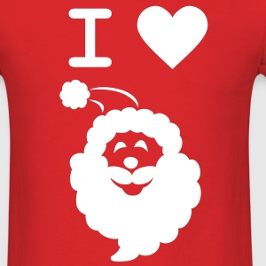 I LOVE SANTA - Men's Standard Weight T-Shirt - Men's T-Shirt