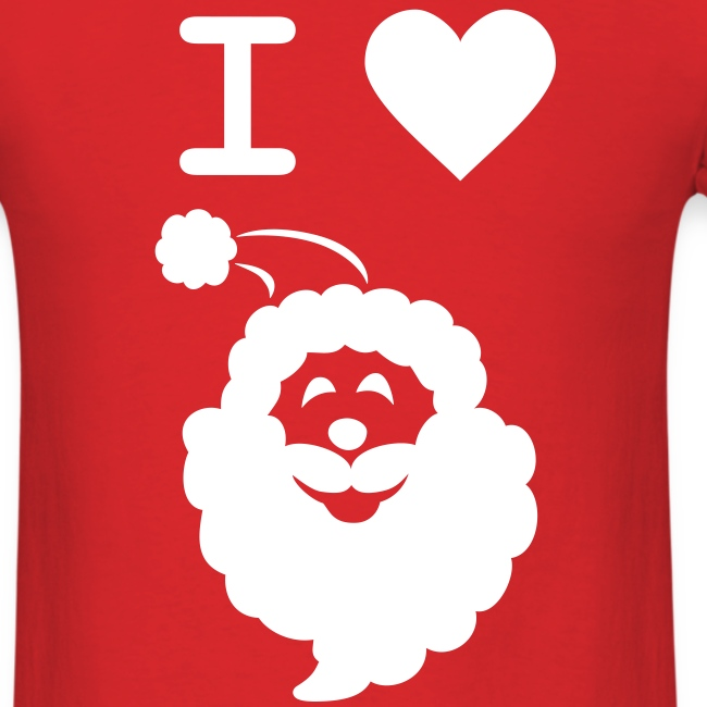I LOVE SANTA CLAUS - Men's T-Shirt