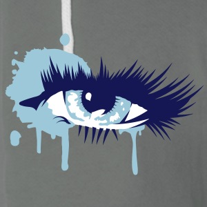 A colored eye with long eyelashes Zip Hoodies/Jackets - Unisex Fleece Zip Hoodie by American Apparel
