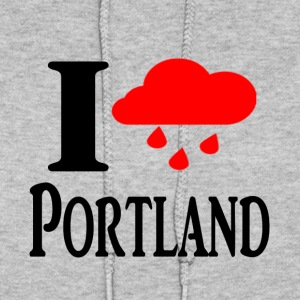 I heart Portland (Rain Cloud) - Women's Hoodie