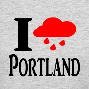 I heart Portland (Rain Cloud) - Women's Long Sleeve Jersey T-Shirt
