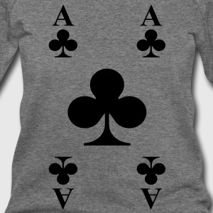 Ace of clubs Long Sleeve Shirts - Women's Wideneck Sweatshirt