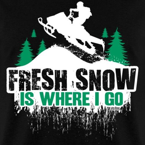 Snowmobile Fresh Snow