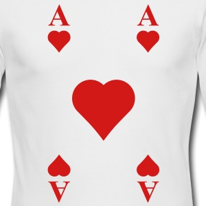 ace of hearts Long Sleeve Shirts - Men's Long Sleeve T-Shirt by Next Level