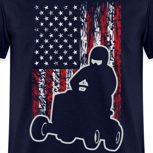 Lawnmower Race USA Grunge