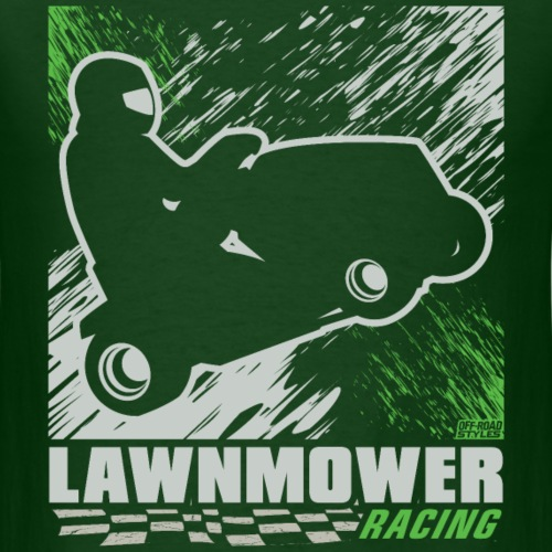Lawnmower Racing Abstract