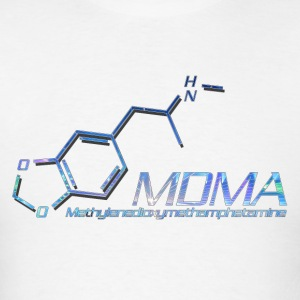 MDMA Molecule Color - Men's T-Shirt