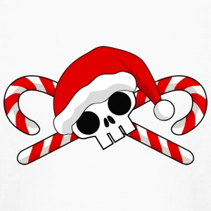 Santa Skull with Candy Canes Kids' Shirts - Kids' Long Sleeve T-Shirt