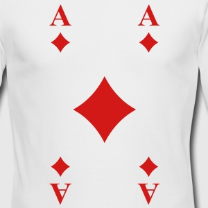 Ace of Diamonds Long Sleeve Shirts - Men's Long Sleeve T-Shirt by Next Level