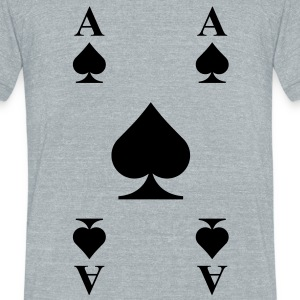 Ace of Spades T-Shirts - Unisex Tri-Blend T-Shirt by American Apparel