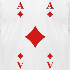 Ace of Diamonds T-Shirts - Men's T-Shirt by American Apparel