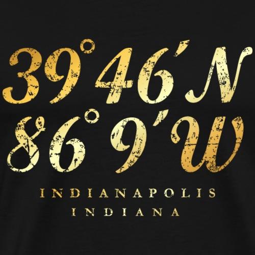 Indianapolis, Indiana Coordinates (Ancient Gold)