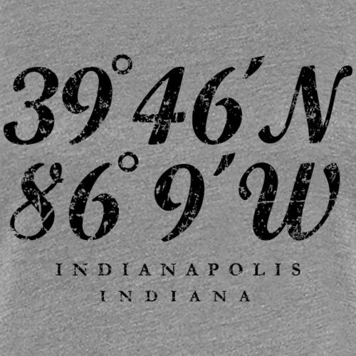 Indianapolis, Indiana Coordinates (Ancient Black)
