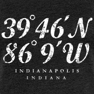 Indianapolis, Indiana Coordinates (Ancient White)