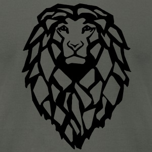 Lion Shirt - Fuzzy Print - Men's T-Shirt by American Apparel