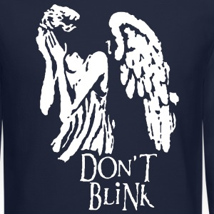 don't blink Long Sleeve Shirts - Crewneck Sweatshirt
