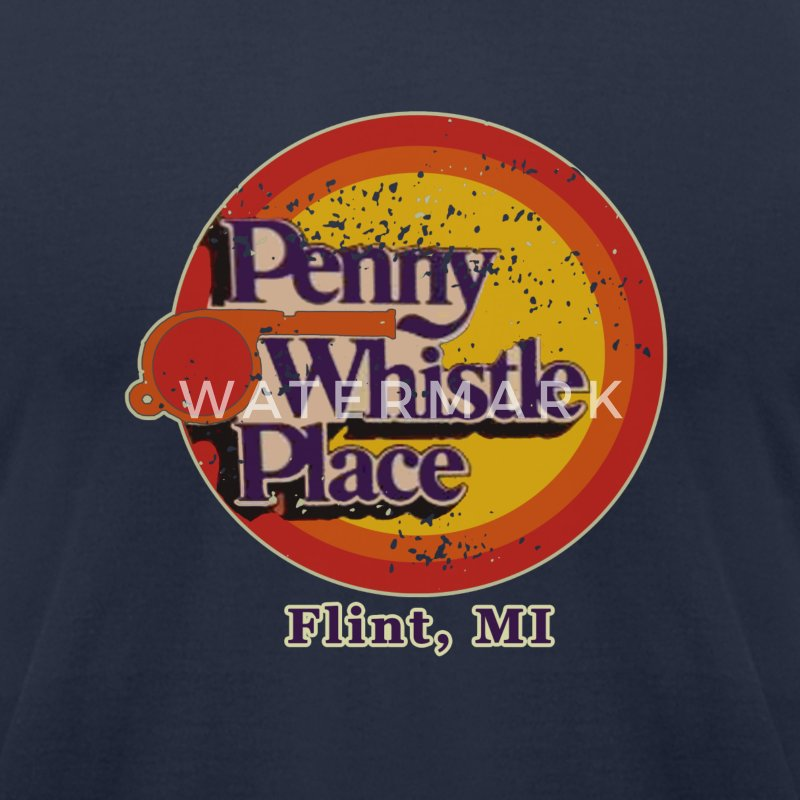 Penny Whistle Place T-Shirts - Men's T-Shirt by American Apparel