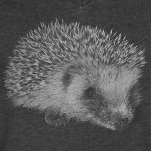 hedgehog T-Shirts - Men's V-Neck T-Shirt by Canvas
