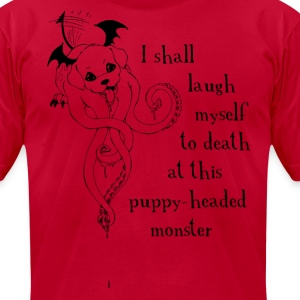 Puppy Monster Shakespe quote shirt - Men's T-Shirt by American Apparel
