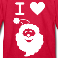 Design ~ I LOVE SANTA CLAUS - Kid's Long-Sleeve