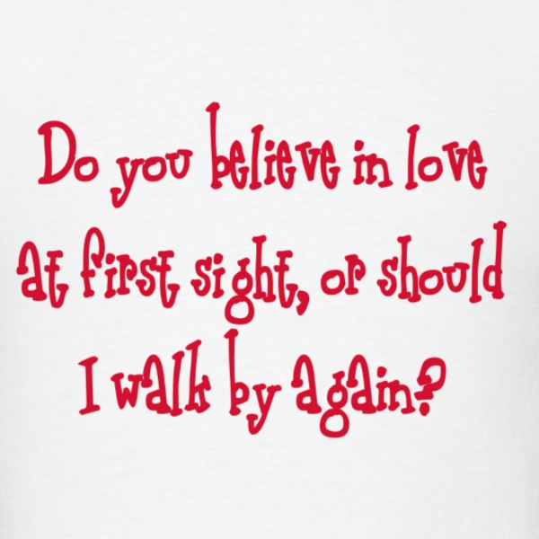 love at first sight - Men's T-Shirt