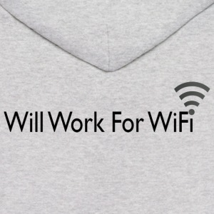 WILL WORK FOR WIFI Hoodies - Men's Hoodie