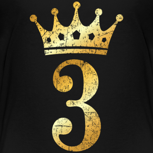 3rd Birthday Crown Number 3 (Ancient Gold)