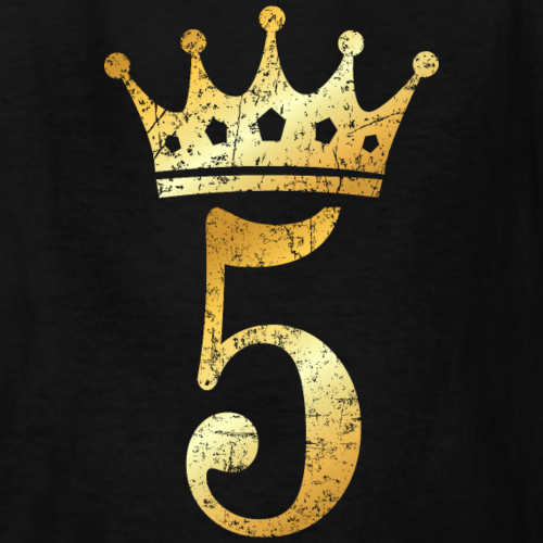 5th Birthday Crown Number 5 (Ancient Gold)