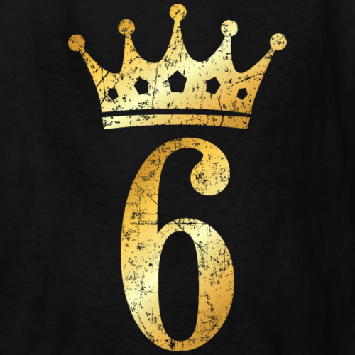 6th Birthday Crown Number 6 (Ancient Gold)