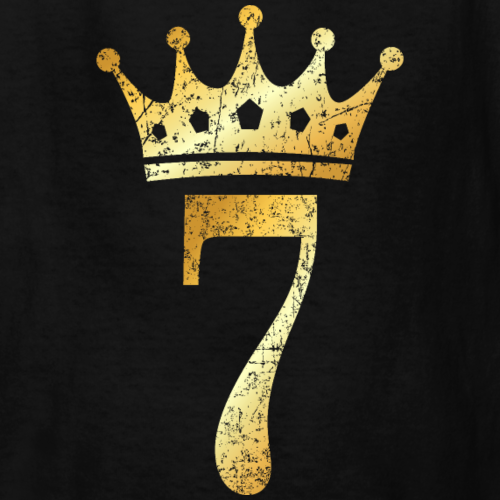 7th Birthday Crown Number 7 (Ancient Gold)