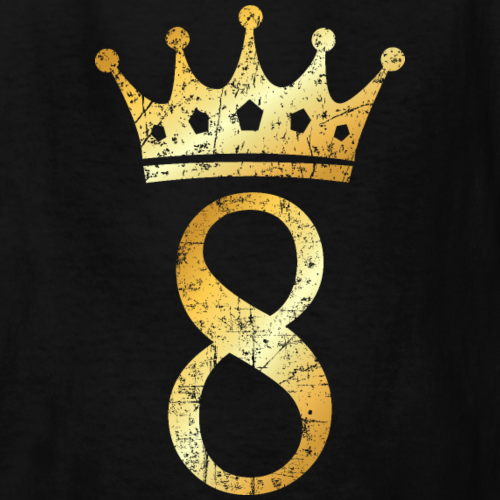 8th Birthday Crown Number 8 (Ancient Gold)