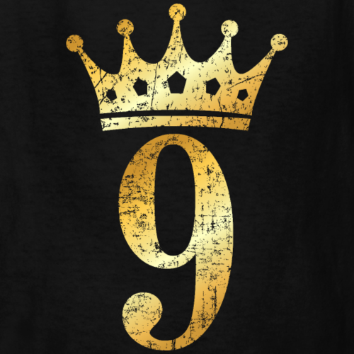 9th Birthday Crown Number 9 (Ancient Gold)