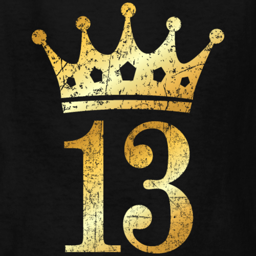 13th Birthday Crown Number 13 (Ancient Gold)
