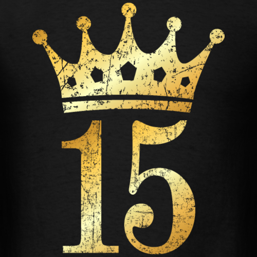 15th Birthday Crown Number 15 (Ancient Gold)