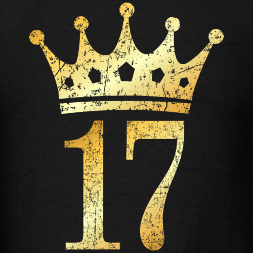 17th Birthday Crown Number 17 (Ancient Gold)